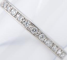 [写真]田崎真珠 ハーフエタニティ ダイヤモンド計0.14ct リング プラチナ【買取相場】