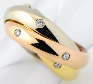 [写真]カルティエ トリニティ ダイヤモンド 18金 リング【買取相場】