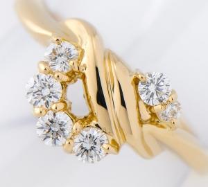 [写真]ラザール ダイヤモンド計0.29ct 18金 リング【買取相場】