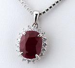 ルビー5.00ct ダイヤモンド計0.622ct プラチナ ネックレス【買取相場】