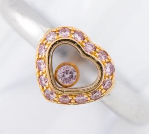 [写真]ショパール ハッピーシリーズ ピンクダイヤモンド 18金 リング【買取相場】