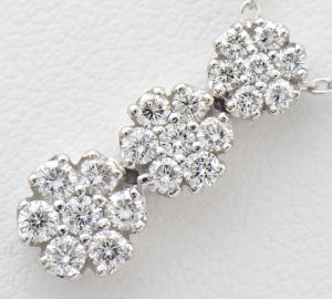 [写真]ポンテヴェキオ ダイヤモンド計0.43ct K18WG ネックレス【買取相場】