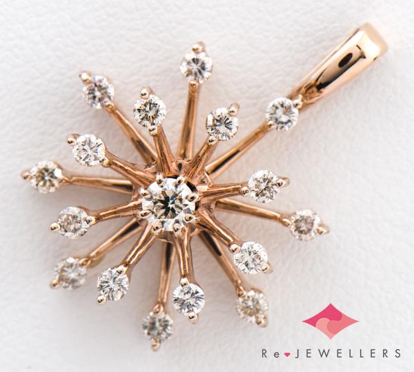 [写真]ダイヤモンド計0.55ct K18PG ペンダント【買取相場】