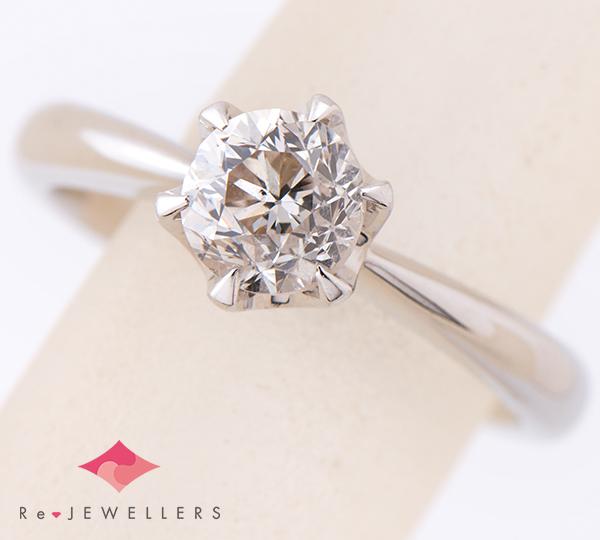 [写真]ダイヤモンド1.04ct 立爪 プラチナ900 リング【買取相場】