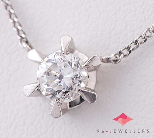 [写真]ダイヤモンド0.62ct プラチナ ネックレス【買取相場】
