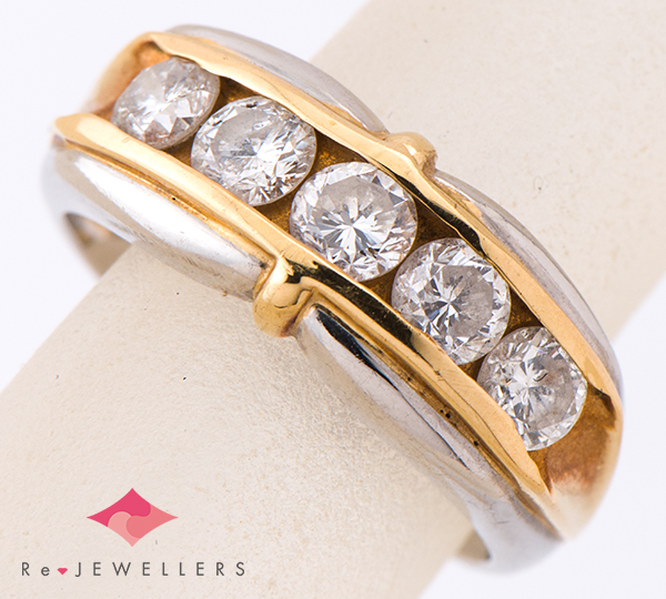 [写真]ダイヤモンド計1.00ct プラチナ/18金 リング【買取相場】