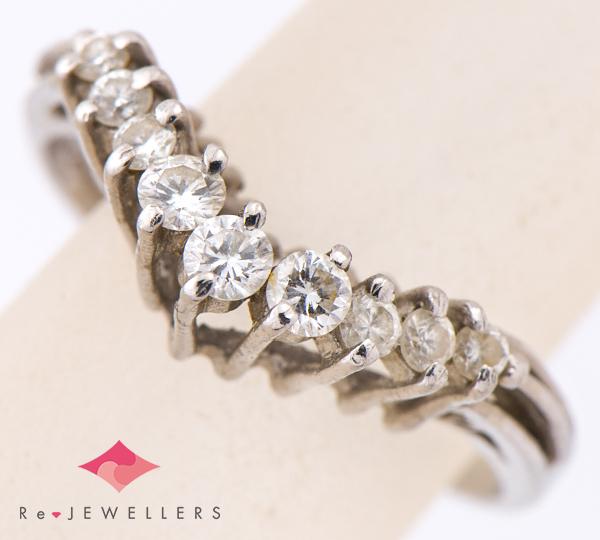 [写真]ダイヤモンド計0.35ct プラチナ リング【買取相場】