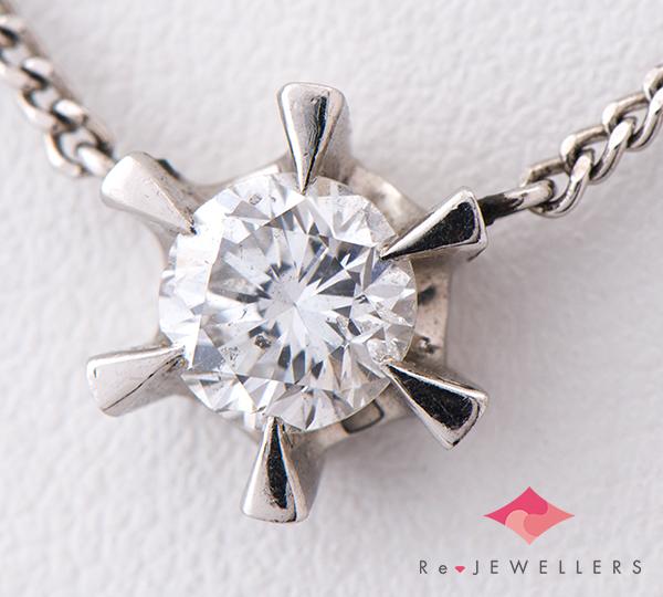 [写真]ダイヤモンド0.775ct プラチナ900/850 ネックレス【買取相場】