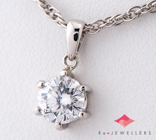 [写真]ダイヤモンド1.01ct プラチナ ペンダント・ネックレス【買取相場】