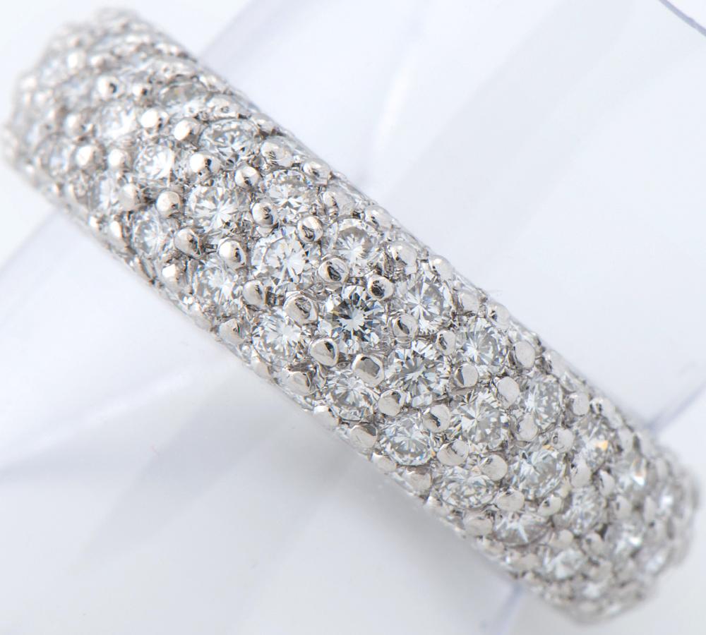 [写真]モニッケンダム フルエタニティ パヴェ ダイヤモンド計2.72ct プラチナ900 12号 リング・指輪【買取相場】