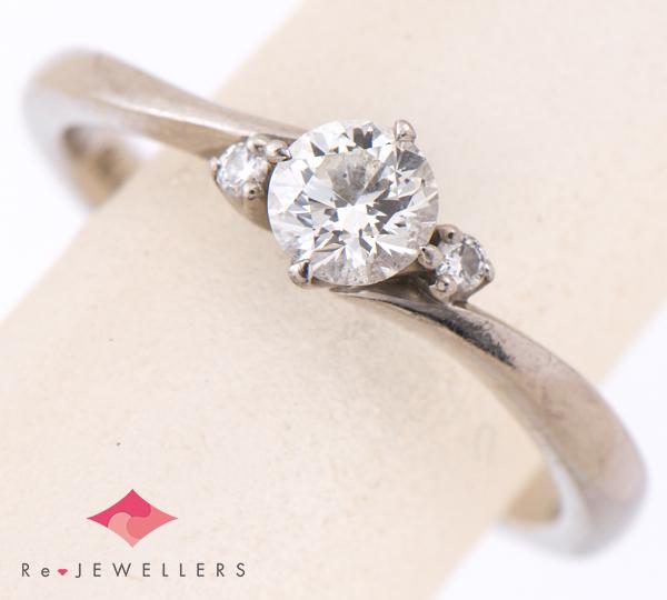 [写真]ダイヤモンド0.284ct G-VS2-3EX H&C ダイヤモンド計0.02ct プラチナ900 リング【買取相場】
