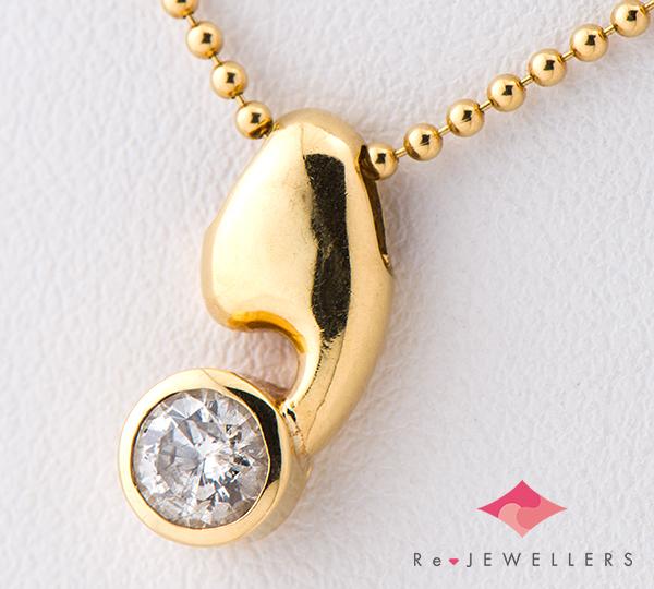 [写真]ダイヤモンド0.37ct 18金 ネックレス【買取相場】