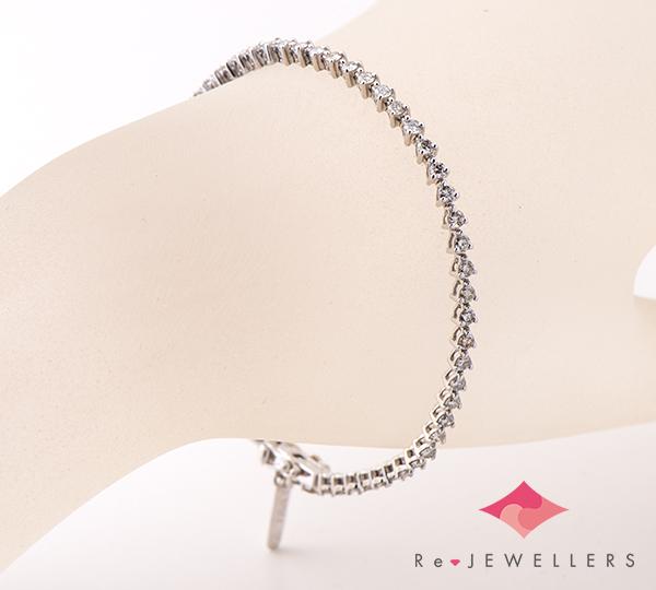 [写真]ダイヤモンド計1.00ct K18WG ブレスレット【買取相場】