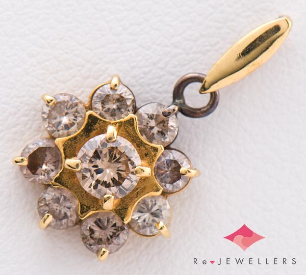 [写真]ブラウンダイヤモンド計1.00ct 18金イエローゴールド ペンダントトップ【買取相場】