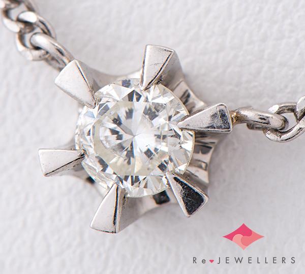 [写真]ダイヤモンド0.34ct プラチナ ネックレス【買取相場】