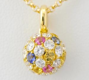 [写真]田崎真珠 カラーサファイア ダイヤモンド計1.24ct ネックレス 18金【買取相場】