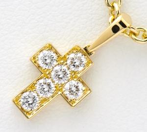 [写真]カルティエ クロス ダイヤモンド 18金 ネックレス【買取相場】