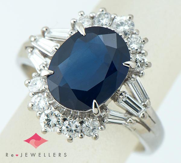 [写真]ブルーサファイア2.71ct ダイヤモンド計0.58ct プラチナ リング【買取相場】