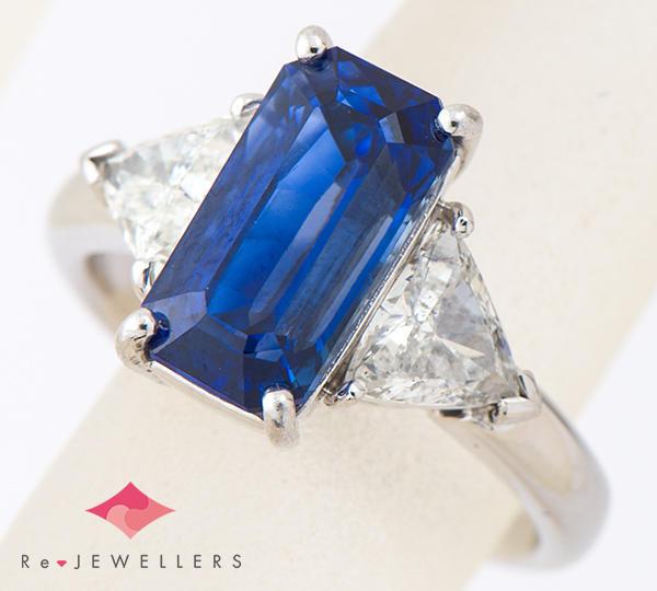 [写真]サファイア5.30ct ダイヤモンド計1.08ct プラチナ900 リング・指輪【買取相場】