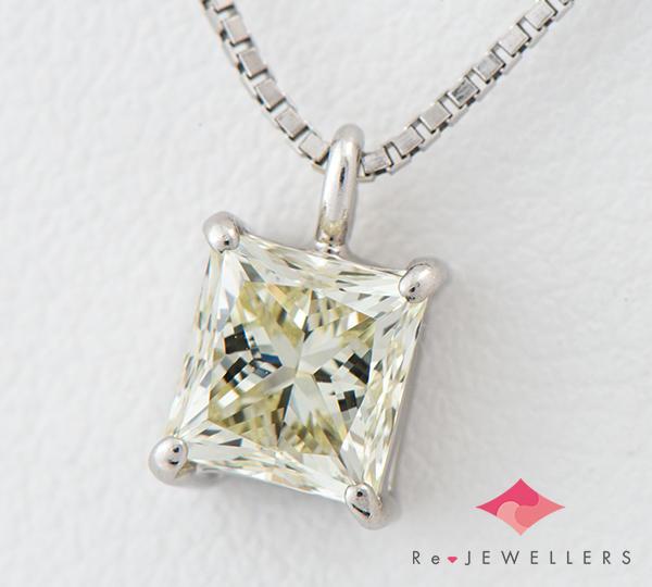 [写真]ダイヤモンド1.058ct LY-VS2 ネックレス プラチナ【買取相場】