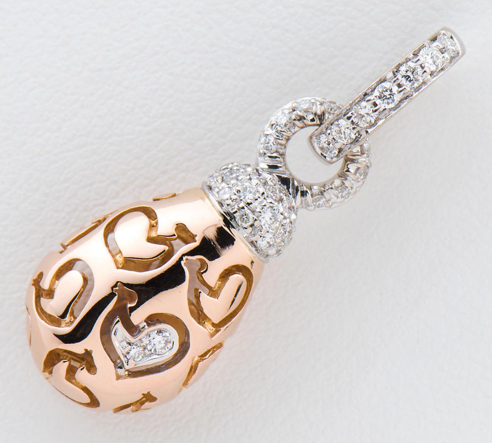 [写真]シャンテクレール ダイヤモンド 18金ピンク/ホワイトゴールド ペンダントトップ【買取相場】