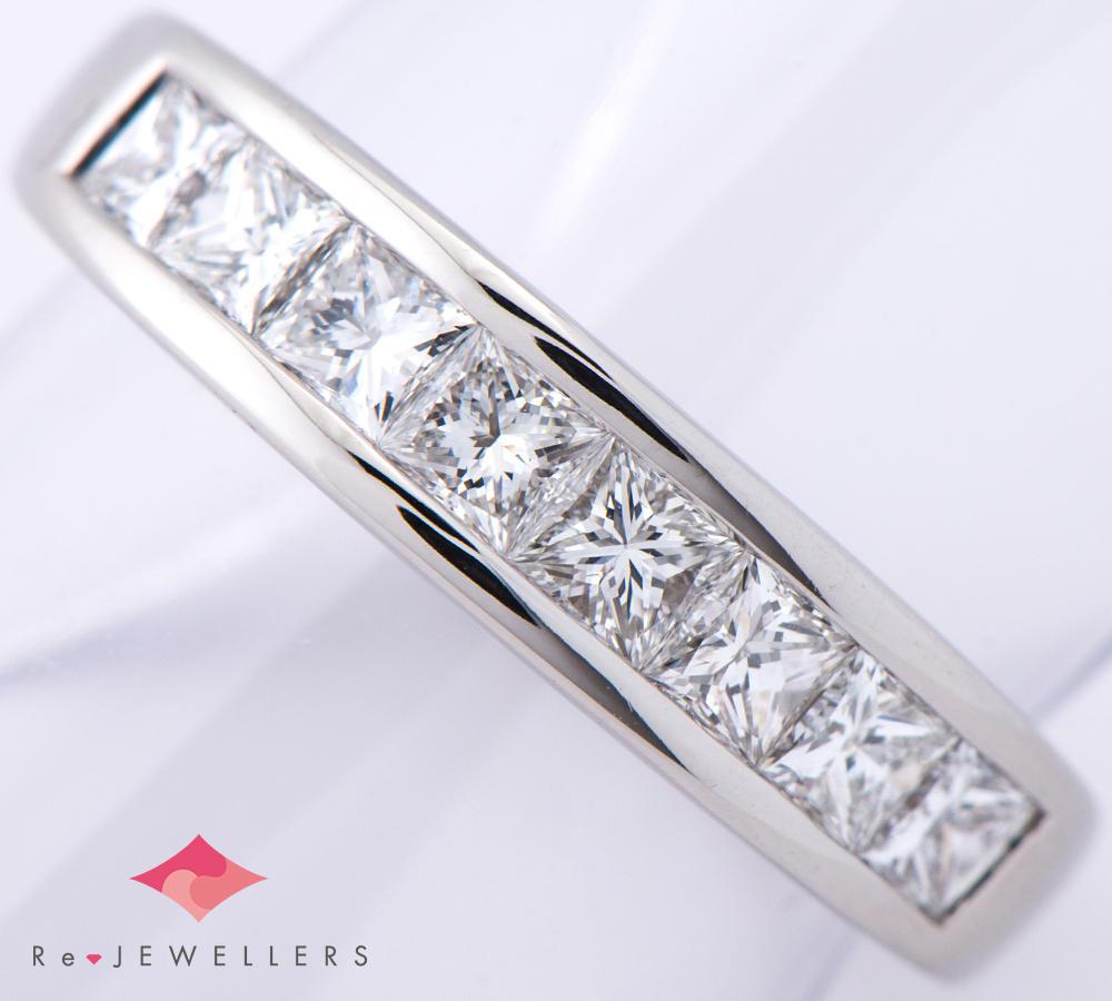 [写真] プリンセスカットダイヤモンド0.80ct プラチナ900 リング【買取相場】