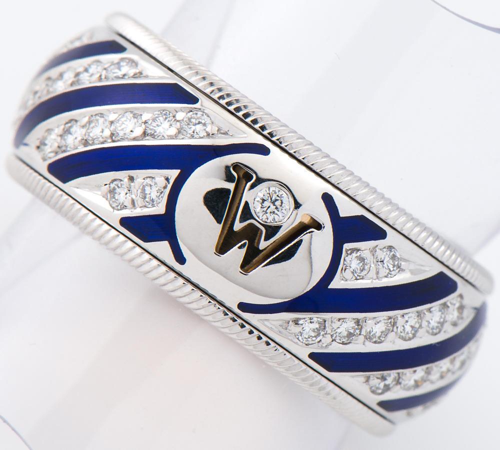 [写真]ウェレンドルフ エナメル ダイヤモンド 18金ホワイトゴールド リング・指輪【買取相場】