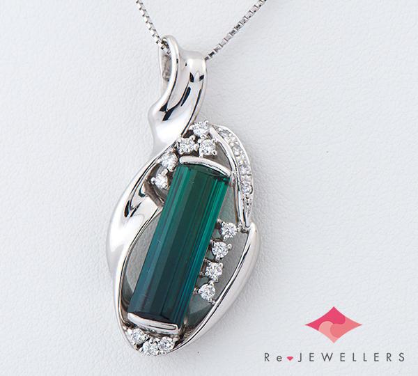 [写真]トルマリン4.82ct ダイヤモンド計0.35ct プラチナ ネックレス【買取相場】
