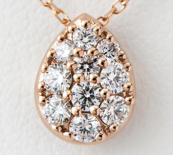[写真]ギンザタナカ ダイヤモンド計0.30ct 18金ピンクゴールド ネックレス【買取相場】