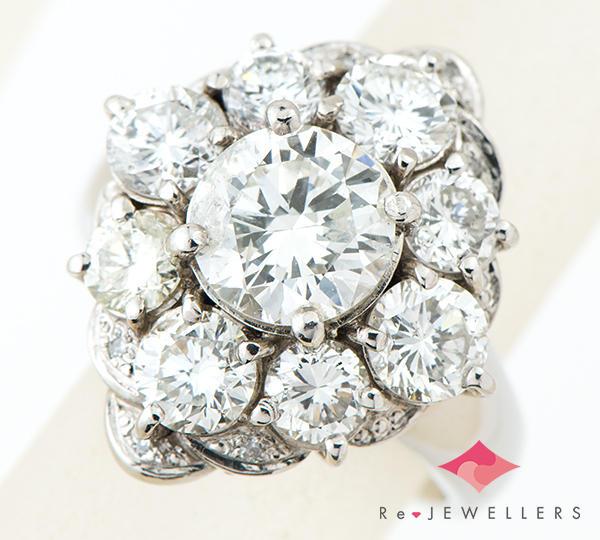 [写真]ダイヤモンド計4.35ct プラチナ 指輪・リング【買取相場】