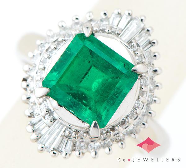 [写真]エメラルド2.05ct ダイヤモンド計0.58ct プラチナ900 リング・指輪【買取相場】