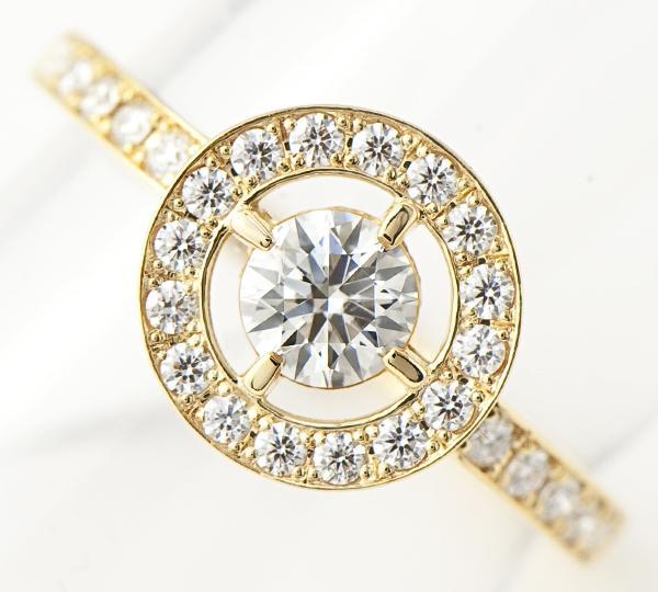 [写真]ダイヤモンド0.31ct メレダイヤ計0.20ct 18金 リング【買取相場】