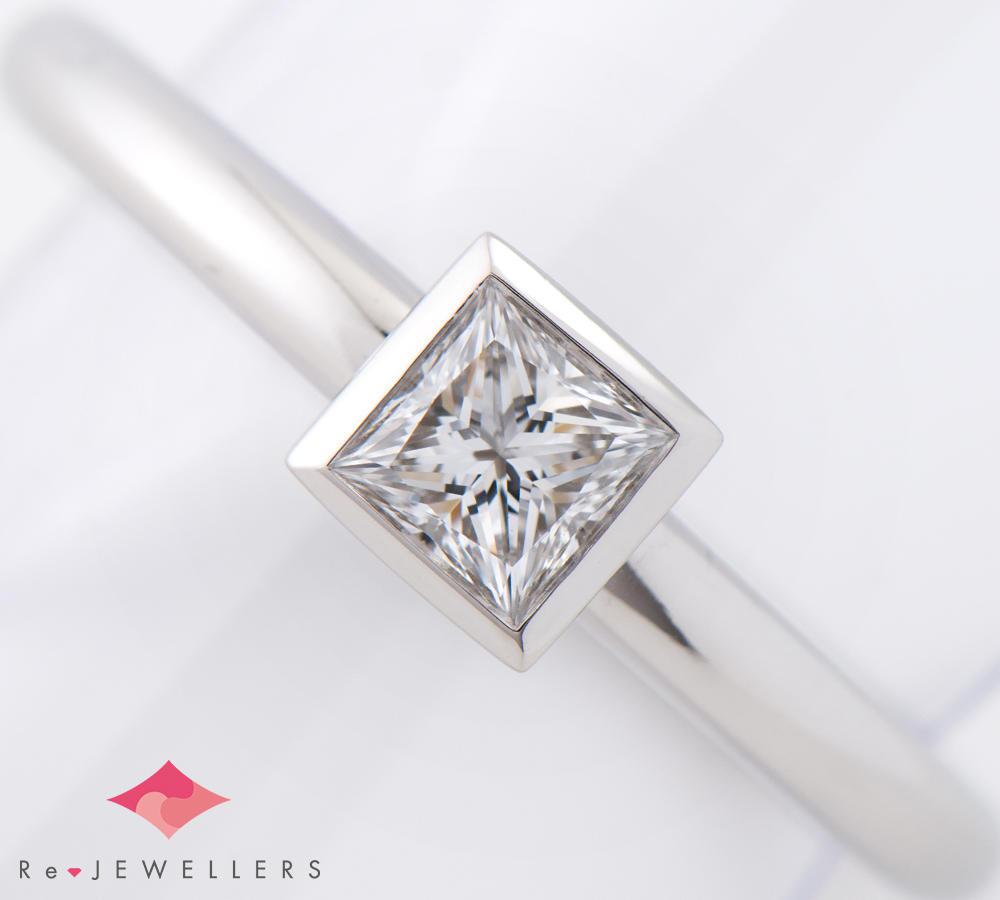 [写真]ティファニー ビゼット ダイヤモンド0.42ct プラチナ リング【買取相場】