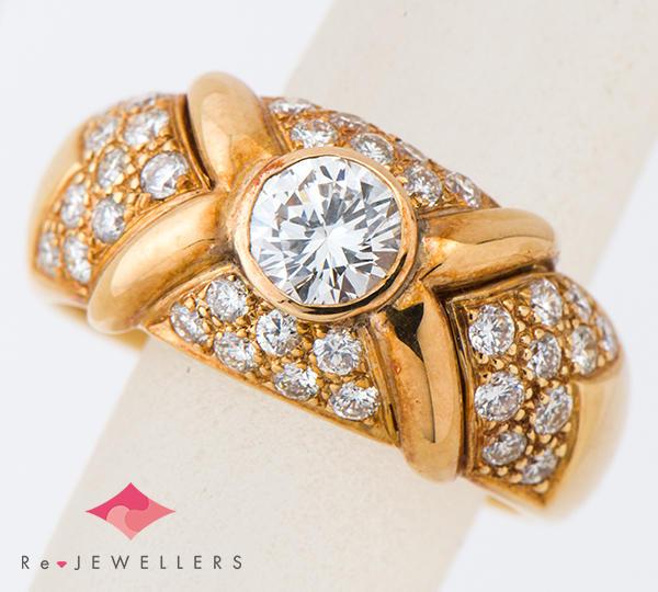 [写真]ダイヤモンド0.55ct ダイヤモンド計0.72ct 18金イエローゴールド リング・指輪【買取相場】