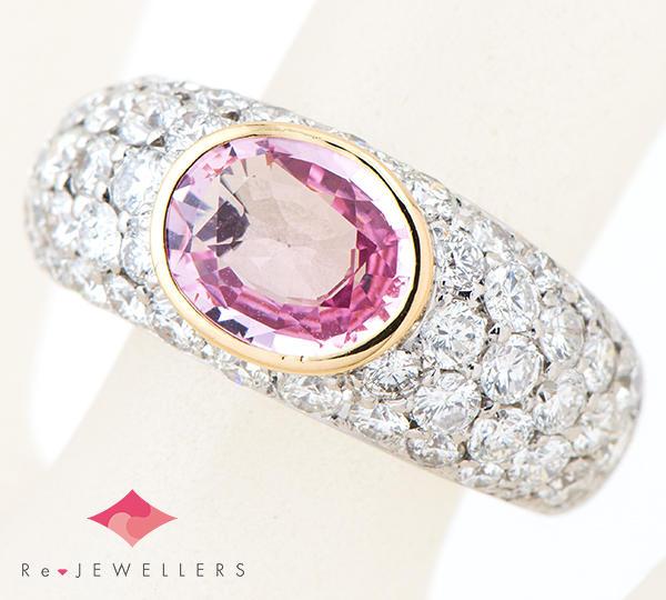 [写真]非加熱サファイア2.038ct ダイヤモンド計2.48ct プラチナ900 18金 リング・指輪【買取相場】