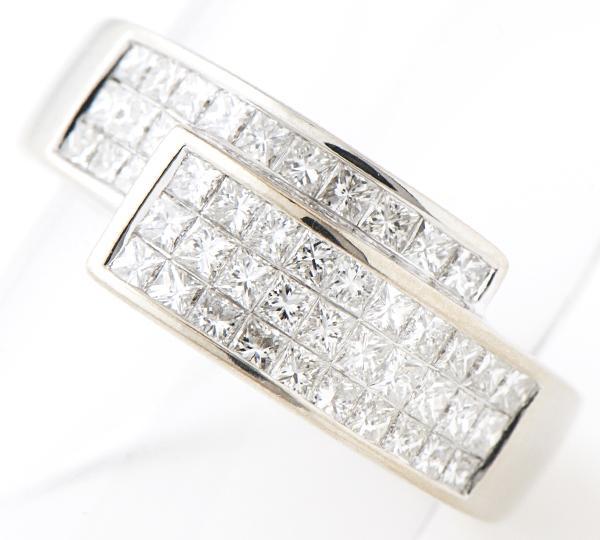 [写真]プリンセスカットダイヤモンド計1.10ct K18WG リング【買取相場】