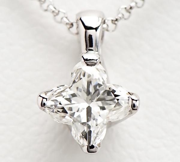 [写真]リリーカットダイヤモンド0.55 プラチナ ネックレス【買取相場】