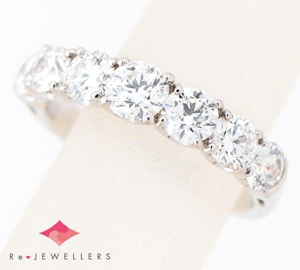 [写真]ダイヤモンド計1.567ct プラチナ リング【買取相場】