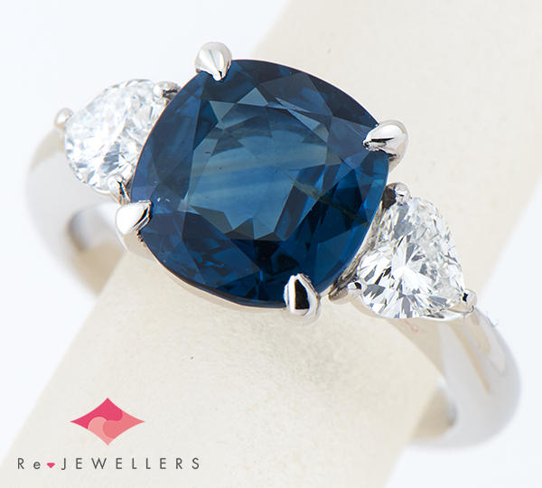 [写真]非加熱 サファイア3.35ct ダイヤモンド計0.70ct プラチナ900 リング・指輪【買取相場】