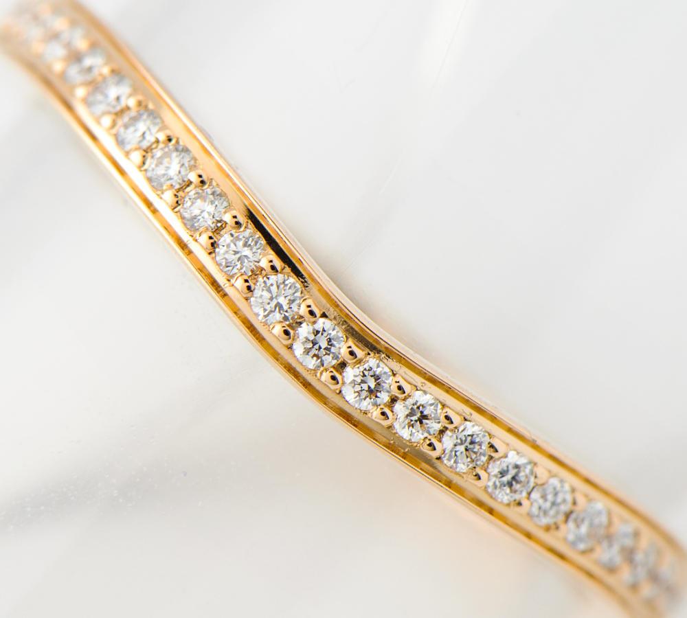 [写真]カルティエ バレリーナ ハーフエタニティ カーブ ダイヤモンド 18金 リング【買取相場】