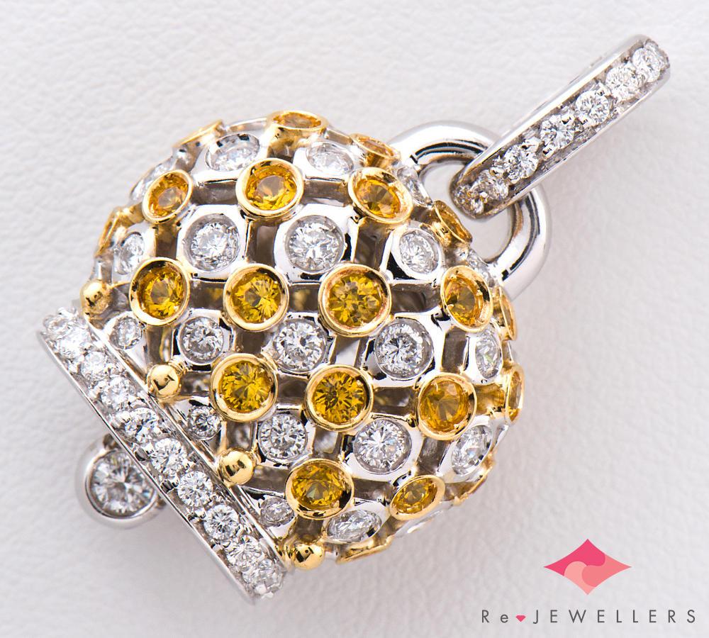 [写真]シャンテクレール 幸運のベル サファイア ダイヤモンド 18金 ペンダントトップ【買取相場】