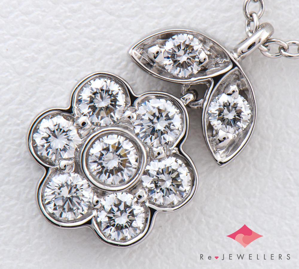 [写真]ティファニー ガーデンフラワー ダイヤモンド プラチナ950 ネックレス【買取相場】