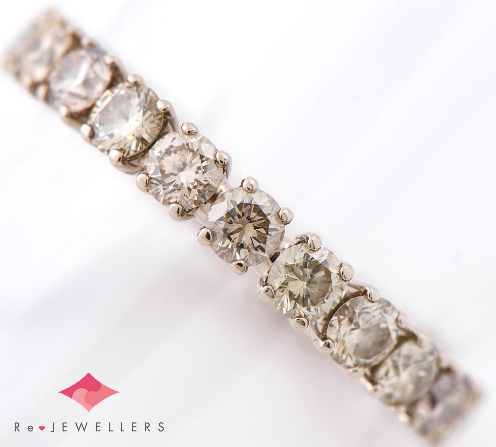 [写真]カシケイ フルエタニティ ブラウン ダイヤモンド計1.70ct 18金カラーゴールド 指輪【買取相場】
